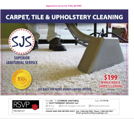 Carpet, Tile and Upholstery Cleaning Special