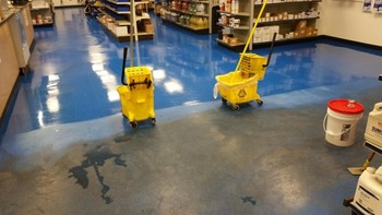 Stripping and Waxing VCT Floors in Winston-Salem, NC