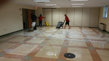 VCT Tile Floor Stripping & Waxing at Fellowship Hall in Greensboro, NC