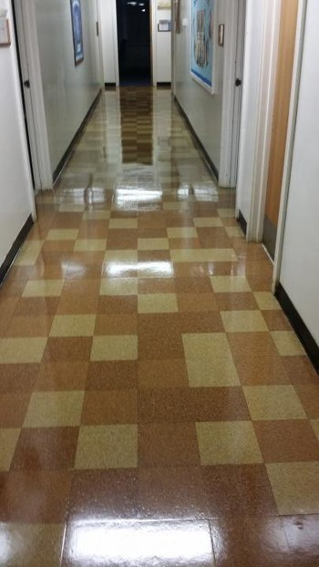 Before and After Floor Cleaning in Greensboro, NC