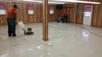 Floor Stripping and Waxing at Fellowship Hall in Greensboro, NC