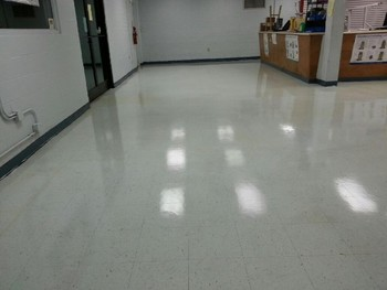 After Floor Stipping and Waxing in Stokesdale, NC
